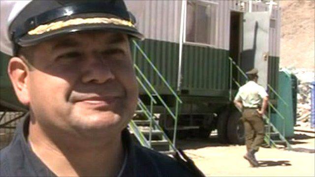 Chilean Navy medical specialist Andres Llarena