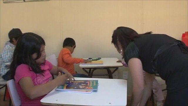 Children in the school room