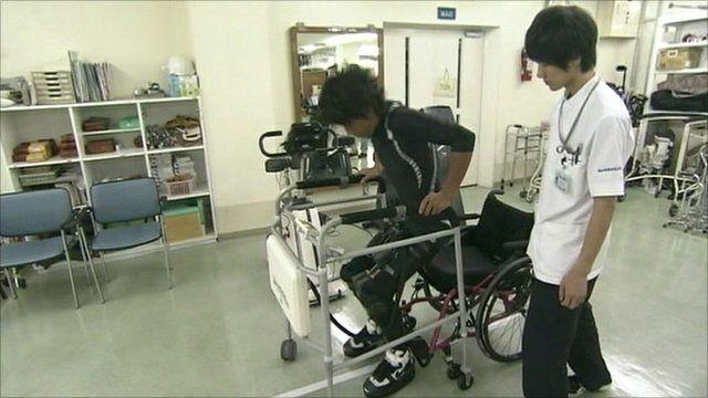 Walking-aid robot
