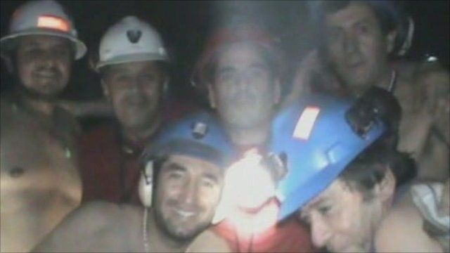Trapped Chile miners