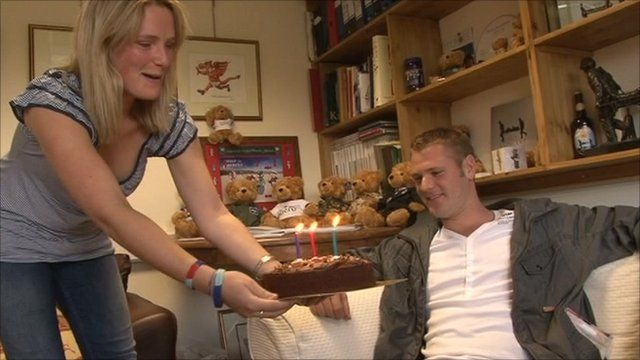 Neil Heritage with birthday cake