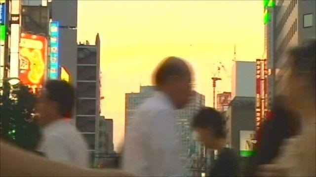 People crossing the road in Tokyo