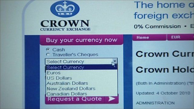 Crown Currency Exchange website