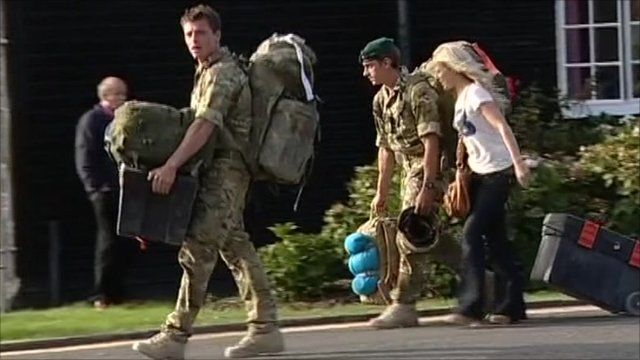 Royal Marines from 40 Commando returned to the UK