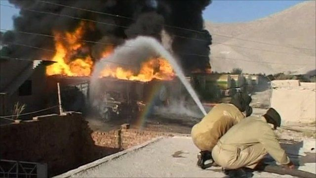 Army trying to put the fire down