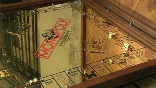 Gold Monopoly board
