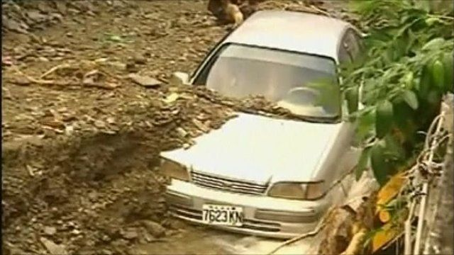 A car buried by the storm