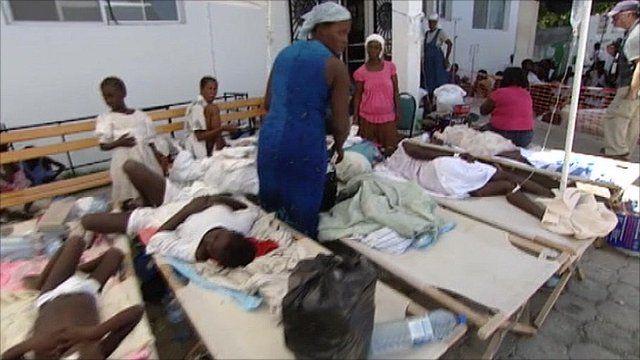 Temporary hospital in Haiti
