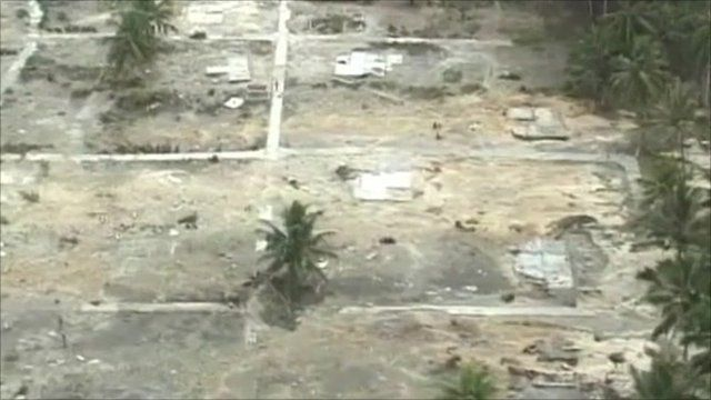 Land cleared by tsunami in Indonesia