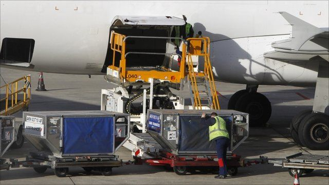 Air cargo loaded into plane