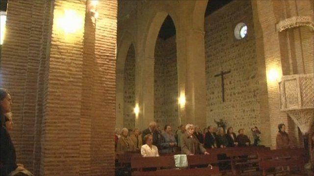 Catholic mass in Spain