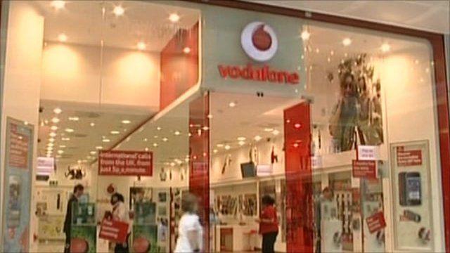 Exterior of Vodafone shop