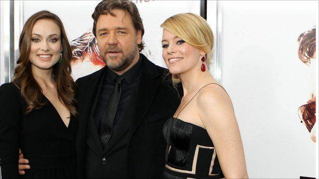 Olivia Wilde, Russell Crowe and Elizabeth Banks