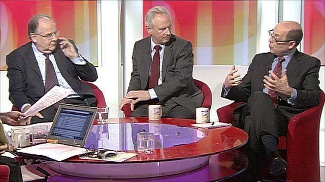 Lord Falconer, Francis Maude and Nick Robinson
