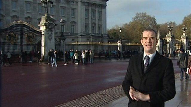 Giles Dilnot outside Buckingham Palace