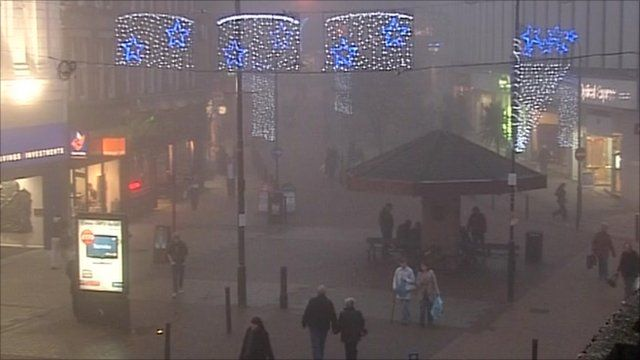 Shoppers in Barnsley