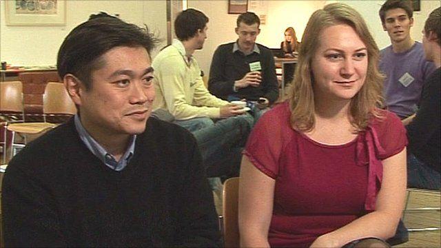 Joichi Ito and Elizabeth Varley talk to the BBC's Rory Cellan Jones