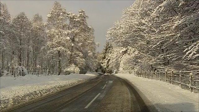 Parts of Scotland are under a blanket of snow