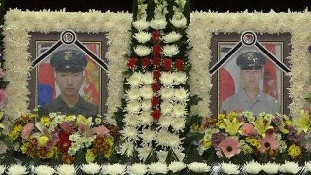 Photographs of the two marines killed