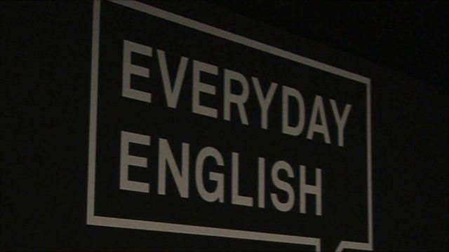 Sign: 'Everyday English'