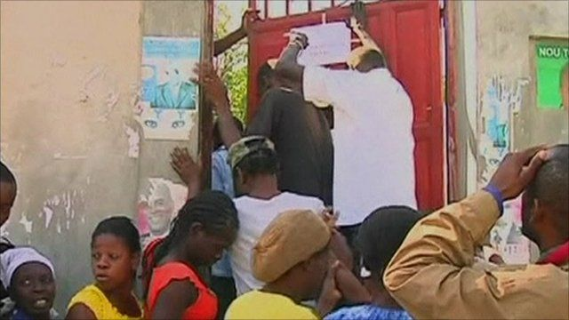 Haitians have been queuing to get their voting cards