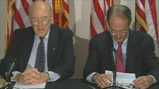 Debt commission co-chairmen Alan Simpson and Erskine Bowles