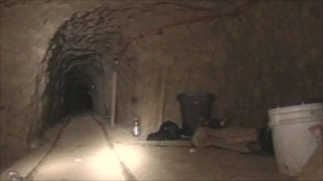 inside a drug smuggling tunnel on the us