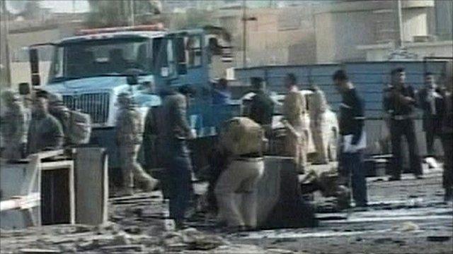 Aftermath of blast in Ramadi