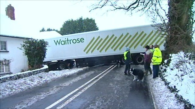 Lorry crashed into a house