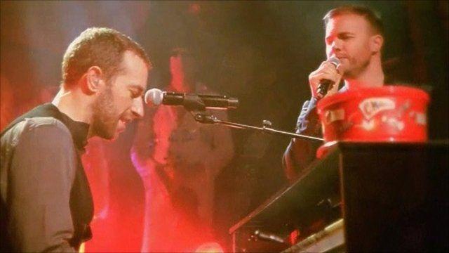 Chris Martin and Gary Barlow