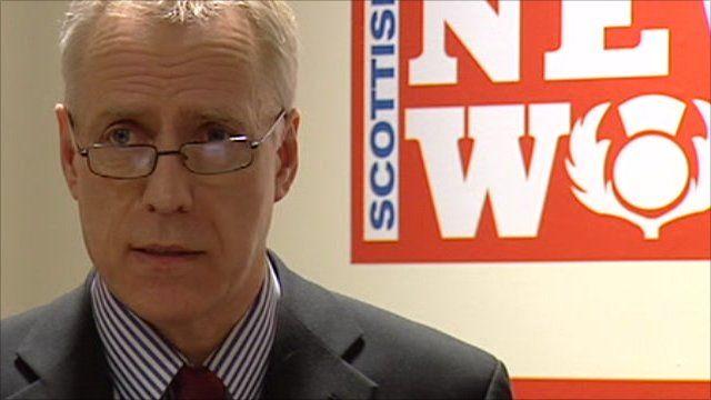 Bob Bird, the Scottish editor of the News of the World