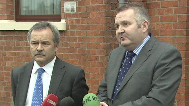 Trevor Haslett (left) and Laurence MacKenzie (right)