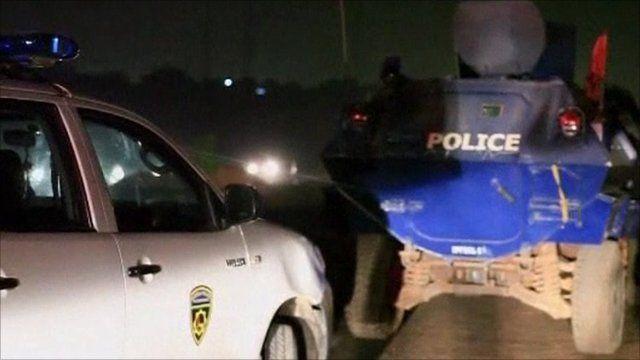 Police armoured vehicle