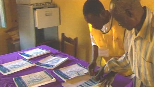 Inside a polling station in Sudan