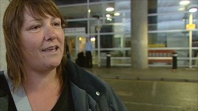 Holidaymaker who has arrived back from Tunisia