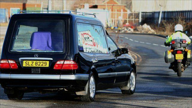 Michaela McAreavey's coffin is taken from Belfast airport
