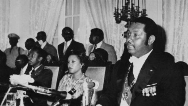The former president of Haiti, Jean Claude Duvalier