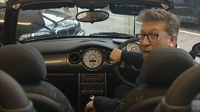 Neil Fox at the wheel