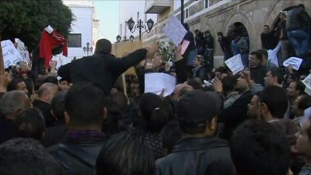 Once again protests have taken place in Tunis