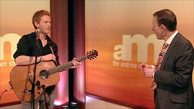 Singer Teddy Thompson and Andrew Marr