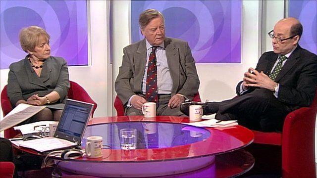 Margaret Hodge, Ken Clarke and Nick Robinson