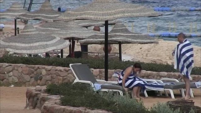 Tourists in Red Sea resort