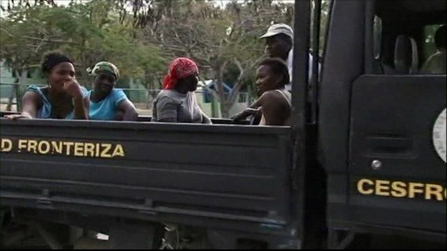 Haitians being deported