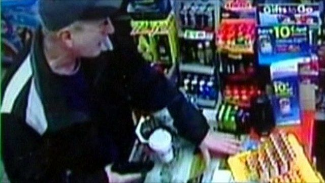 CCTV footage of 'polite robber'