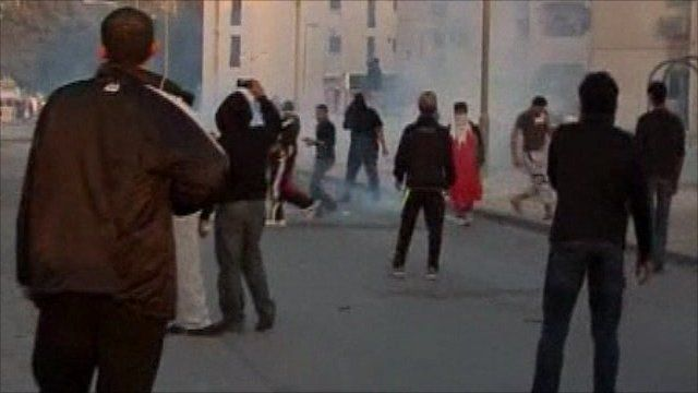 Tear gas fired at Bahrain protesters during Monday's protests