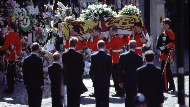 Coffin is carried into Westminster Abbey