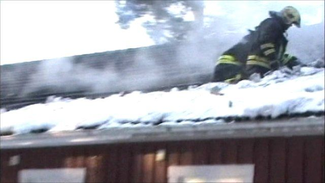 Firemen tackling orphanage blaze