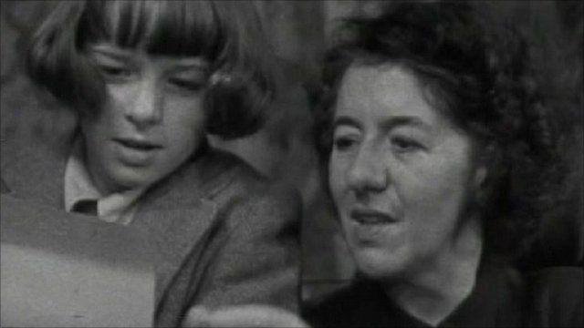 Enid Blyton with her daughter Imogen