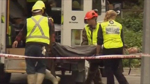 Christchurch earthquake survivor helped by rescuers
