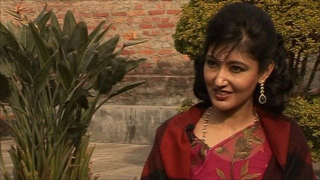 Former Crown Princess of Nepal Himani Shah